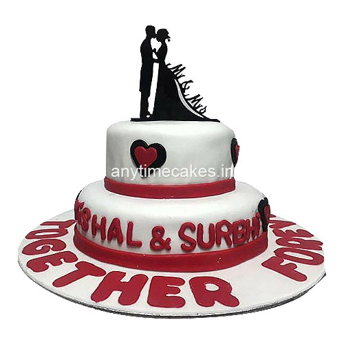 Special Engagement Cake