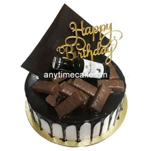 Black Forest with Wine Bottle Cake