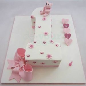 1st birthday cake for boy and girl