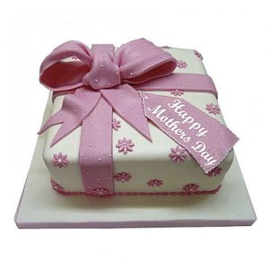 fondant cake for mothers day