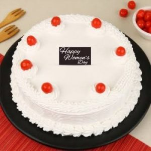 white forest women's day cake